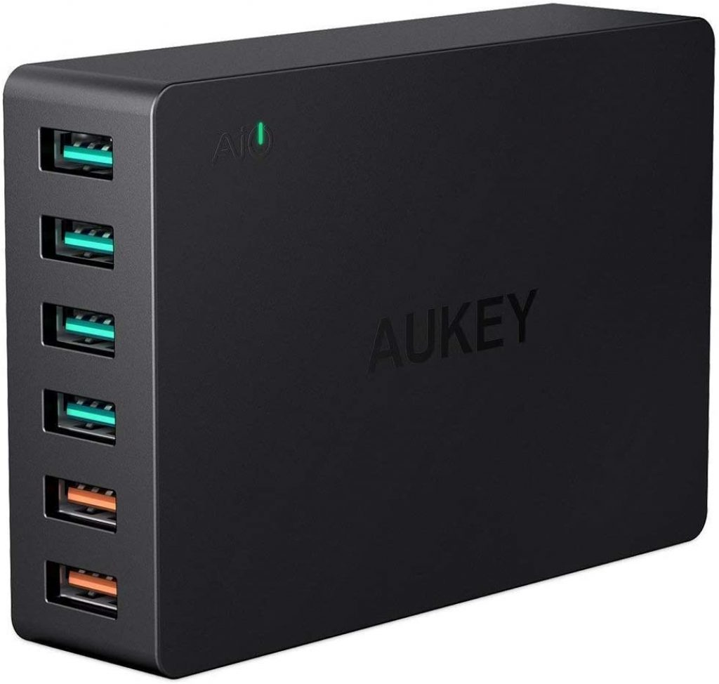 aukey chargeur 6 ports 60w